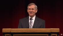 John W. Welch giving a 2011 BYU Devotional.