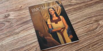 2019 BMC Newsletter on a table