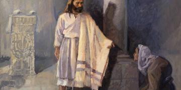 Jesus Healing a Crippled Woman